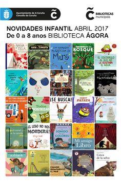 Últimas incorporacións bibliográficas na sala infantil de 0 a 8 anos da Biblioteca Municipal Ágora. Dispoñibles para levar en préstamo dende xa!!