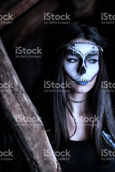 Woman with creative make up for halloween royalty-free stock photo