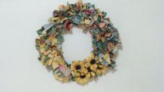 Fall Sunflower Rag Wreath : May Cause Memories :)