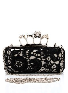 """""""brass knuckles"""" clutch Loves it Clutch Purse, Coin Purse, Skull Purse, Brass Knuckles, Unique Handbags, Glitz And Glam, Crazy Shoes, Fashion Bags, Purses And Bags"""