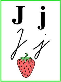 ABECEDA PÍSMENO J Montessori, Activities For Kids, Alphabet, Preschool, Education, Cards, Children Activities, Alpha Bet, Kid Garden