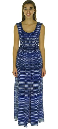 Calvin Klein Womens Chiffon Pattern Maxi Dress * Don't get left behind, see this great  product : Dresses