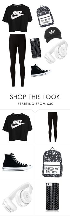 """Untitled #1"" by imkikina ❤ liked on Polyvore featuring NIKE, Rick Owens Lilies, Converse, Beats by Dr. Dre, Savannah Hayes and Topshop"