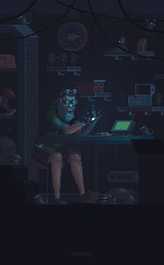 Various Cyberpunk Pixel Art Game Art, Vaporwave, Pixel Art Gif, Arte 8 Bits, Space Opera, Pixel Animation, 8bit Art, Cyberpunk City, Frame By Frame Animation
