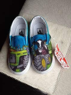 Handpainted shoes by nancy schaff