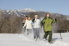 Cross Country Skiing in the Topnotch Fields at Topnotch Resort and Spa, Stowe Vermont