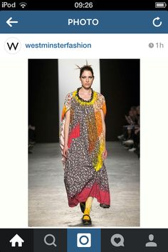 Caroline Day Graduate Collection 2015 at Westminster University @westminsterfashion instagram