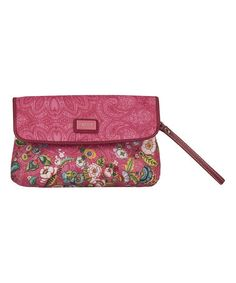 Look at this #zulilyfind! Pink French Flowers Clutch by Oilily #zulilyfinds