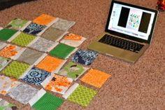 Jungle Lattice: Free Baby Quilt Pattern