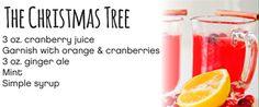 Christmas Tree 3 oz. Cranberry juice  Garnish with orange and cranberries  3 oz. Ginger Ale  Mint  Simple Syrup #Cardis #PortsmouthPublickHouse #TheRhodeShow #WPRI12 #drinks #mocktails #winter #holidays
