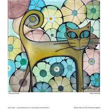 Resultado de imagen para karina chavin Illustrations, Illustration Art, Cat Character, Maneki Neko, Cat Art, Love Art, Art Boards, Kitty, Quilts