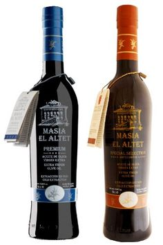 Masia el Altet Duo Pack B: Premium and Special Selection bottles- Award Winning, Cold Pressed EVOO Extra Virgin Olive Oils, Harvest, two Glass Bottles ** To view further, visit : Dinner Ingredients Cooking Oil, Glass Bottles, Harvest, Olive Oils, Drinks, Black Friday, Cold, Dinner, Olive Oil