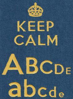 528 Keep Calm Satin Font - Jolson's Designs