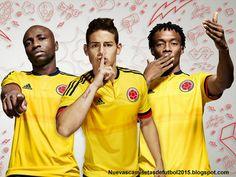 Nuevas camisetas de futbol 2014 2015 2016: Adidas camiseta de Colombia para la Copa América de Chile 2015