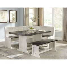 SCI offers a huge selection of breakfast nook set, nook table, dining nook, nook dining set and white breakfast nook set. Dining Room Sets, Corner Dining Nook, Corner Breakfast Nooks, Corner Kitchen Tables, Breakfast Nook Dining Set, Dining Room Design, Kitchen Dining, Dining Tables, Banquette Dining Set
