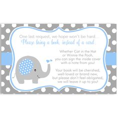 Invite guests to your boy baby shower with this blue and gray invitation featuring a sweet baby elephant, bordered with polka dots and accented with hearts. Mint Baby Shower, Baby Shower Fall, Baby Boy Shower, Baby Shower Gifts, Boy Baby Shower Themes, Baby Shower Invitations For Boys, Baby Shower Decorations, Elephant Theme, Elephant Baby Showers