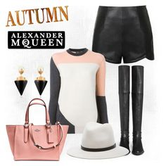 """Early Autumn"" by hastypudding ❤ liked on Polyvore featuring Ally Fashion, McQ by Alexander McQueen, Stuart Weitzman, rag & bone, Coach, Vita Fede and Alexander McQueen"