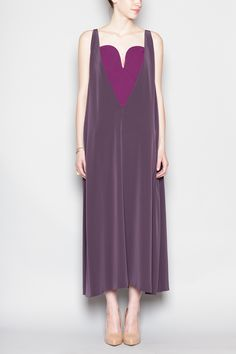 MAISON MARTIN MARGIELA  Triangle Bodice Dress, Deep Purple