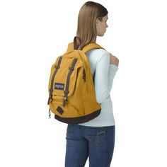 JanSport Baughman Backpack - Yellow Jacket / 17.5 - Click image twice for more info - See a larger selection of yellow  backpacks at http://kidsbackpackstore.com/product-category/yellow-backpacks/ - kids, juniors, back to school, kids fashion ideas, teens fashion ideas, school supplies, backpack, bag , teenagers girls , gift ideas, yellow