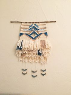Woven wallhanging // weaving wall hanging // by ClaireBCurley