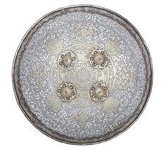 Indian Circular Steel Dhal.  Late 19th Century.