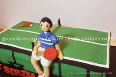 cookiecoo: Tennis Table cake for Mr.Ong