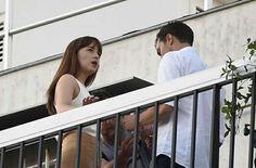 "Dakota Johnson and Jamie Dornan Film ""Fifty Shades Darker"" in Paris on July 19,3016"