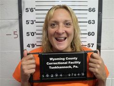 Kimberly Brinton of Meshoppen, Pa. Brinton was jailed after spraying gas on another woman while fueling their cars. This lady was smoking and the other told her to put it out then splashed her with window cleaner in hopes of putting the cig out. So Kimberly chased her with gas.... Lol