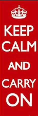 """ISP20071"""" Keep Calm and Carry On"""" (21 X 61)"""