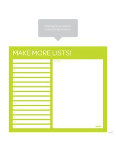 lists.lime.jpg (612×792) // more free downloads on poppin.com