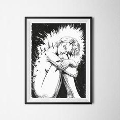 Self Preservation High-quality digital art print of original drawing. Printed on 220 g/m² matte fine art paper. Cyberpunk 2077, Fine Art Paper, A4, Digital Art, Neon, Art Prints, Handmade, Etsy, Art Impressions