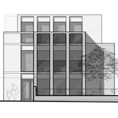 Layered façade of a bijou apartment block in north Oxford. Consent in the bag; a good start to 2017. Adrian James Architects - Oxford #Architecture #Design #Brick #Stone #Minimal #Minimalism #Oxford