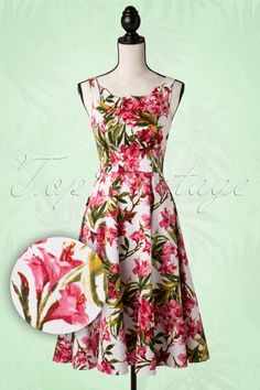 Hearts and Roses White and Pink Floral Swing Dress 102 59 15202 20150630 004pop1