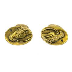 Antique Diamond Gold Horse Cufflinks
