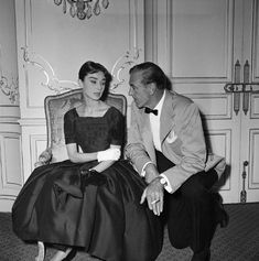 Audrey Hepburn and Gary Cooper during the production of Billy Wilder's 'Love in The Afternoon', 1957.