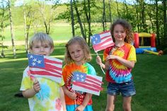 Riley Friday two years ago! He and his cousins made American flags for Memorial Day.