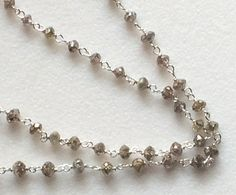 4 Champagne Faceted Diamonds Rosary Chain by gemsforjewels on Etsy