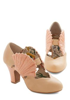 Miss L fire Mermaid Shell Pinup Wedding Shoes UK New With Box Rare in Clothes, Shoes & Accessories, Women's Shoes, Heels Prom Shoes, Wedding Shoes, Peep Toe Pumps, Pumps Heels, High Heels, Crazy Shoes, Me Too Shoes, Mermaid Shoes, Ariel Mermaid