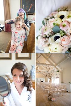A romantic wedding at Stoke Place with a Maggie Sottero dress and sparkly Jimmy Choo shoes with cherry blossom and rose bouquets. 0003 I Thi...