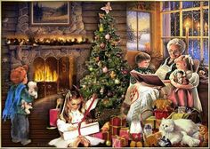 The Fatal Gift of Beauty : Photo Old Time Christmas, Merry Christmas To All, Old Fashioned Christmas, Christmas Scenes, Victorian Christmas, Cozy Christmas, Vintage Christmas Cards, Christmas Pictures, Christmas Things