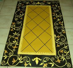Hand Painted Floorcloths Art for your Floor by countryfloorcloths Painted Vinyl Floors, Painted Rug, Hand Painted, Prim Decor, Country Decor, Primitive Decor, Painted Floor Cloths, Stenciled Floor, Decoration