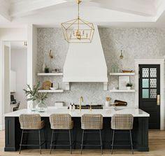 Black and white Kitchen Transitional Black and White Kitchen