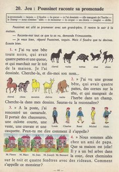 Manuels anciens: Tranchart, Levert, Rognoni, Bien lire et comprendre Cours élémentaire (1963) : grandes images French Learning Books, Teaching French, French Class, French Lessons, Learn French Fast, French Grammar, Oracle Cards, Comprehension, Language