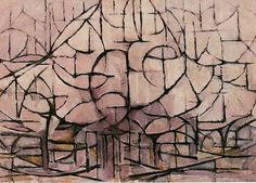 Trees in Blossom - Piet Mondrian