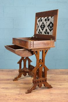 Arts And Crafts Sewing Box / Table - Antiques Atlas
