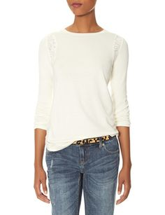 Lace Inset Sweater from THELIMITED.com #ItsTime #TheLimited
