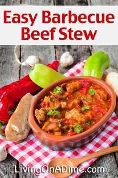 Easy Crockpot Barbecue Beef Stew Recipe - 10 Crockpot Recipes Under $5