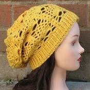 Delilah Slouchy Hat - via @Craftsy
