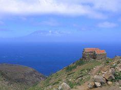 Brava, Cape Verde island Looking towards Fogo