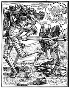 Artist: Holbein d. J., Hans, Title: »The Dance of Death« 31, The Knight, Date: 1524-26